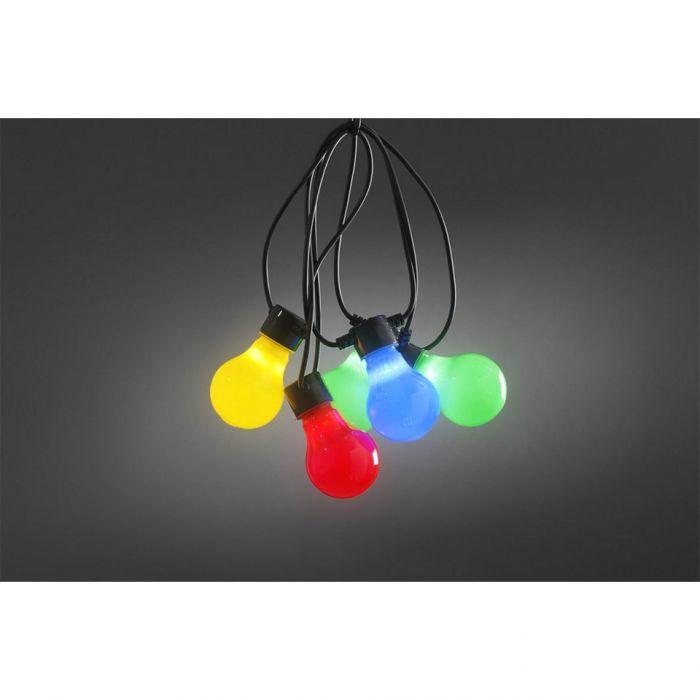 Konstsmide LED Partysnoer 10 multicolour lampen 2388-520
