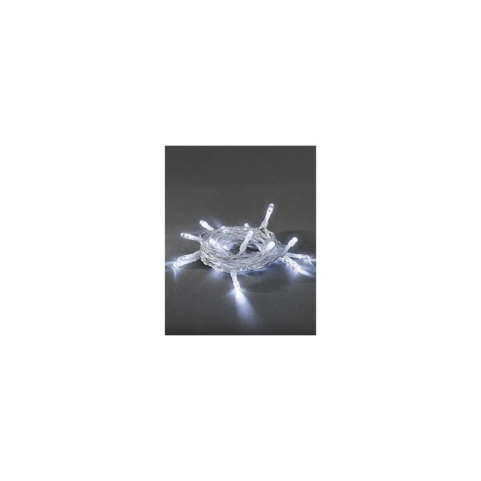 Konstsmide lichtsnoer 20 koel witte LEDs op batterij 1408-203