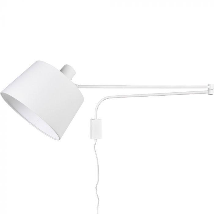Wandlamp Baldo wit 150cm
