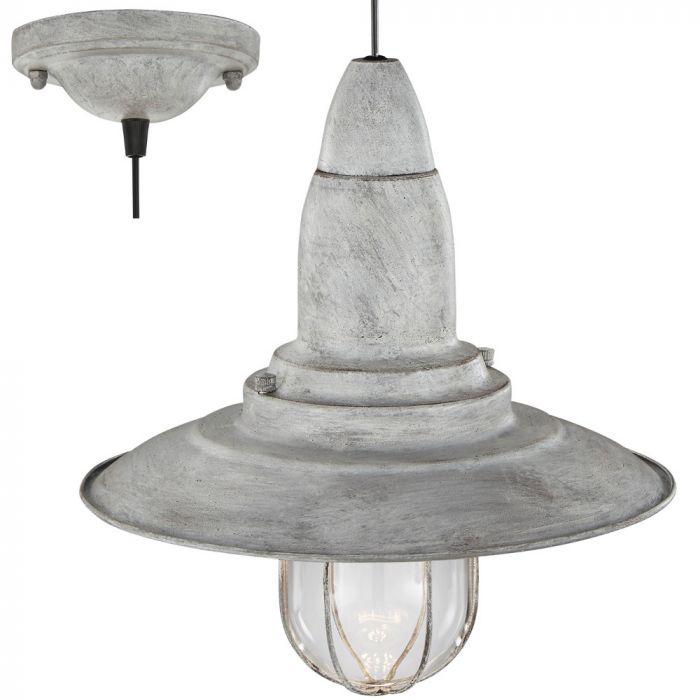Trio Fisherman 304500161 hanglamp grijs