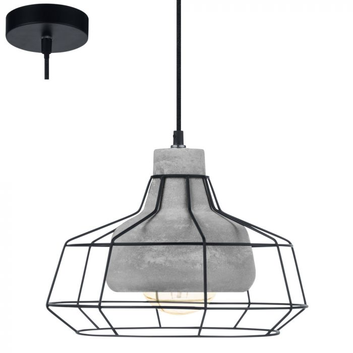 Eglo Consett 49781 hanglamp grijs