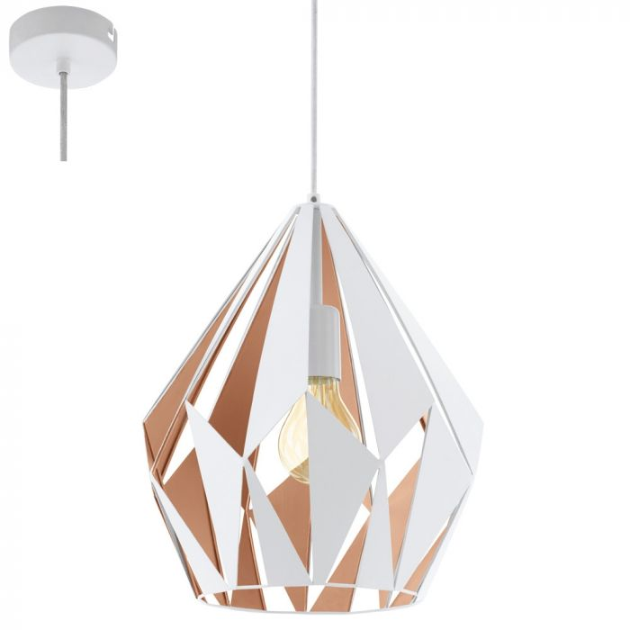 Eglo Carlton 49932 hanglamp wit