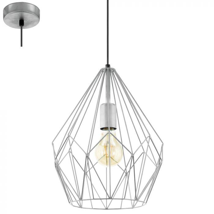 Eglo Carlton 49935 hanglamp zilver