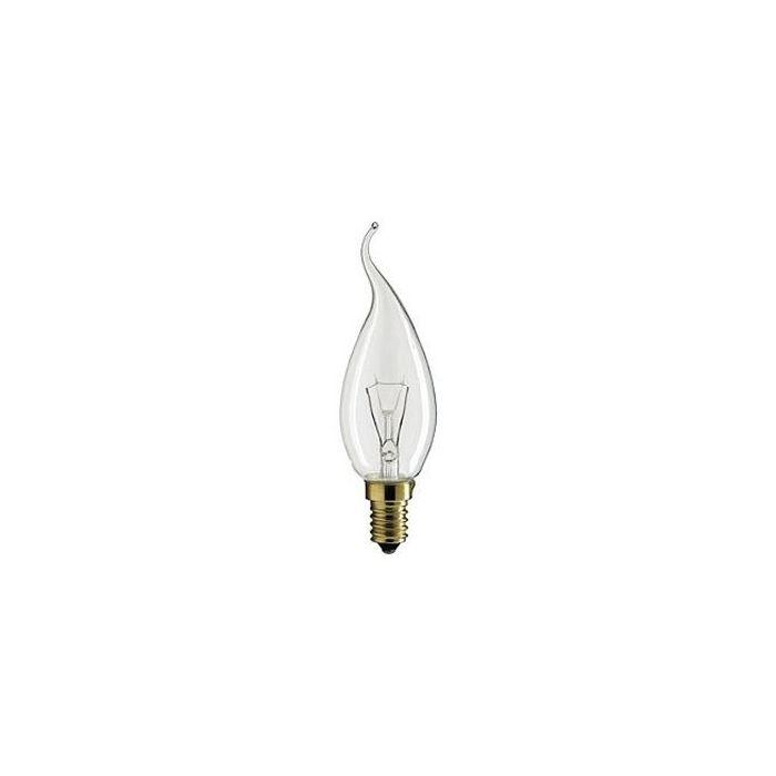 Kaarslamp Gloeilamp E14 230V 25W Tip helder