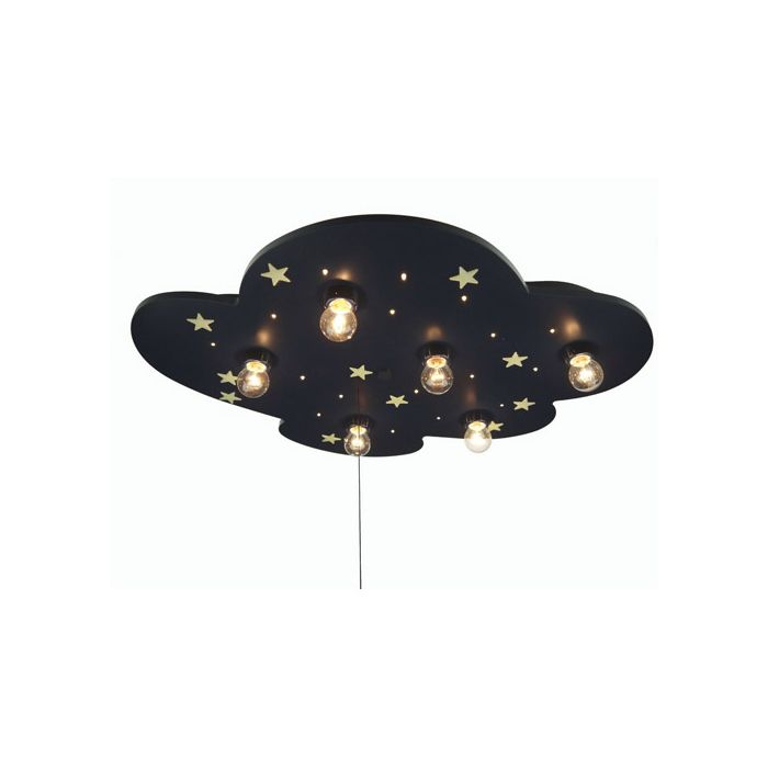 Niermann XXL wolk 642 plafondlamp blauw