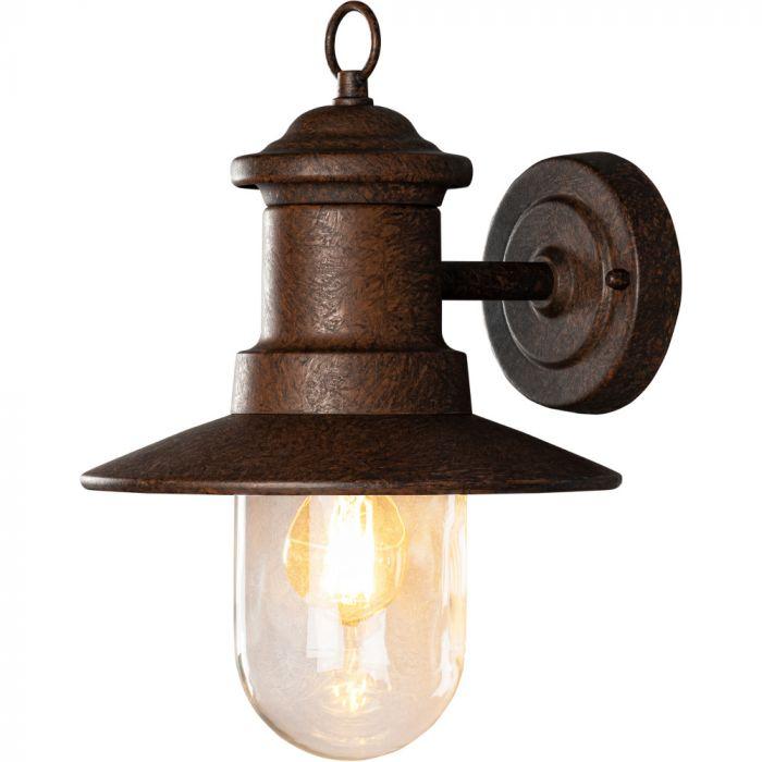Wandlamp Napoli roestbruin 31cm