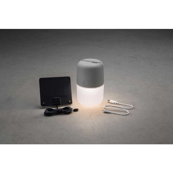 Konstsmide Assisi 7805-302 tafellamp grijs