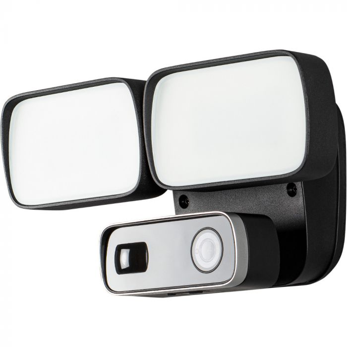 Cameralamp floodlight zwart 28cm