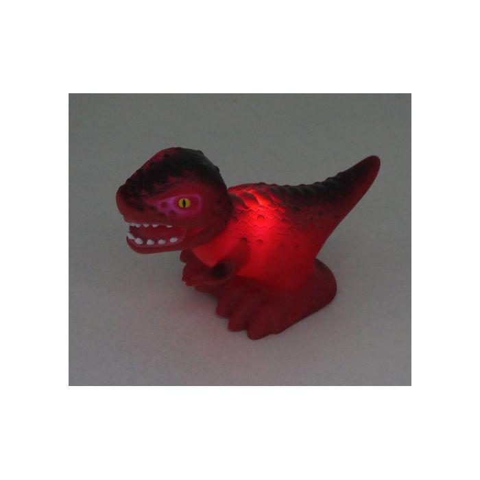 Niermann Tyrannosaurus nachtlampje 80018 rood 15cm