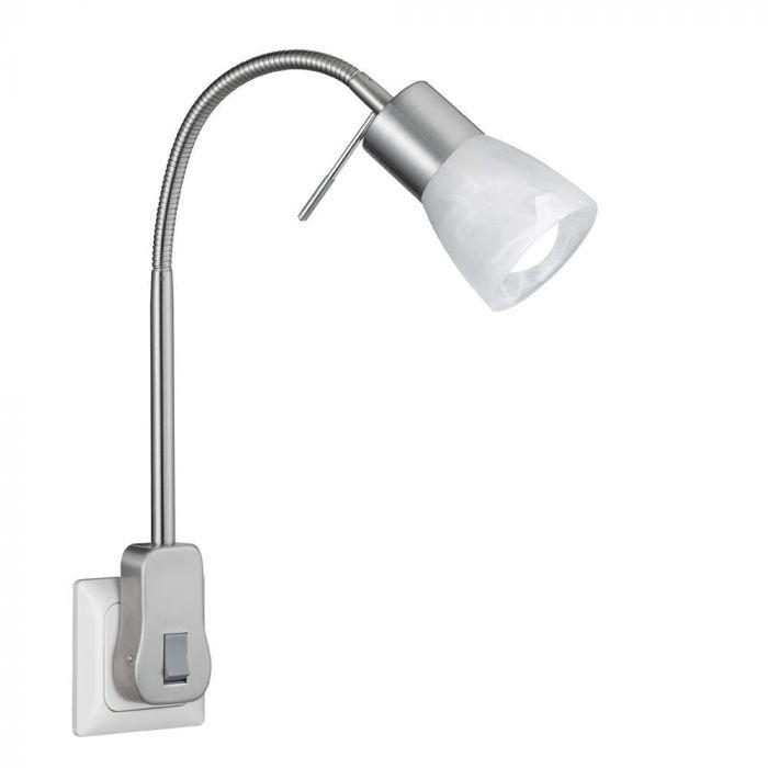 Trio Levisto 891010107 stekkerlamp staal