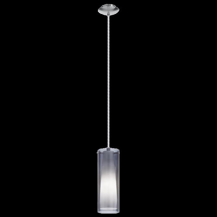 Eglo Pinto Nero hanglamp Trend 90304 zwart transparant