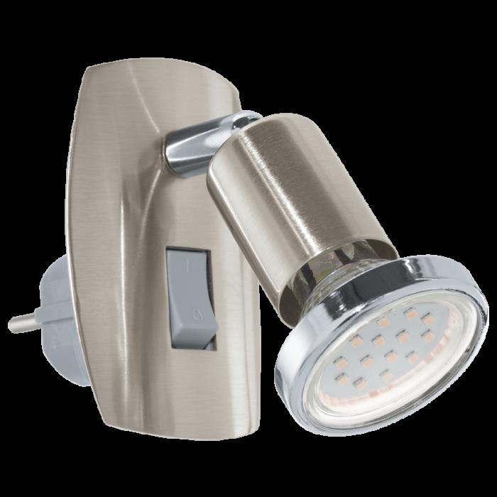 Eglo Mini 4 LED stekkerlamp 92924 nikkel