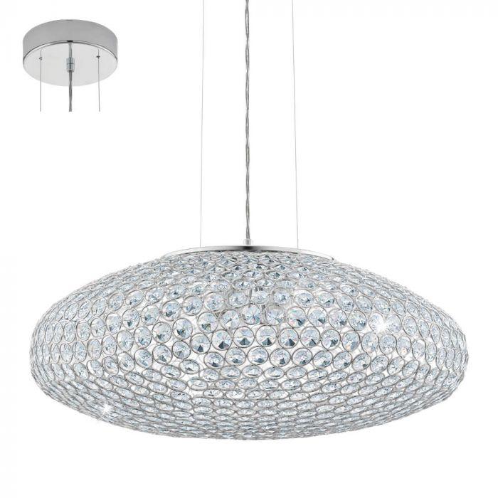 Eglo Clemente 95287 hanglamp kristal