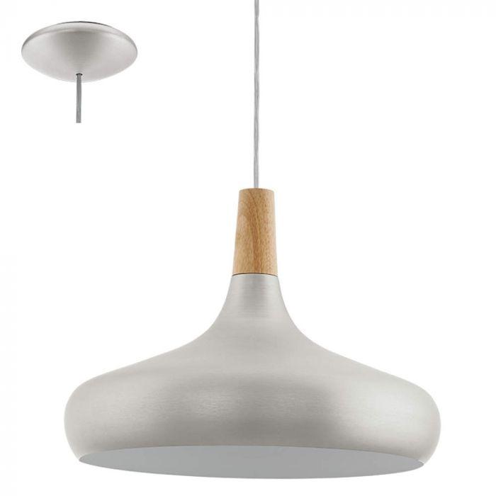 Eglo Sabinar 96986 hanglamp zilver