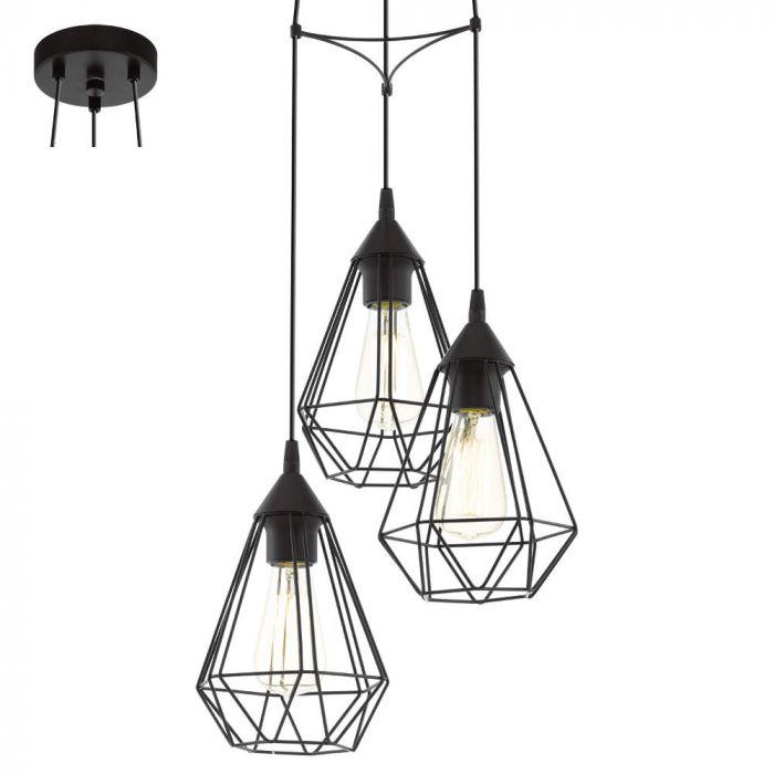 Eglo Tarbes 94191 hanglamp zwart