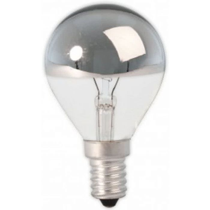Kopspiegel Kogellamp zilver E14 15w