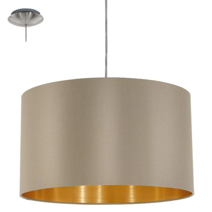 Hanglamp Eglo Maserlo 31602 38cm taupe-goud
