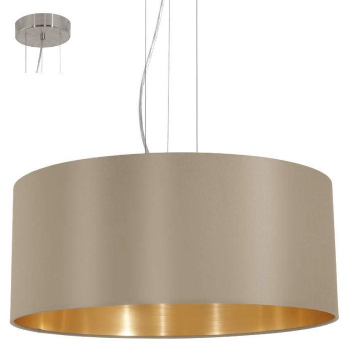 Hanglamp Eglo Maserlo 31607 53cm taupe goud