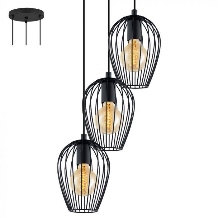 Eglo Newton 49479 hanglamp zwart