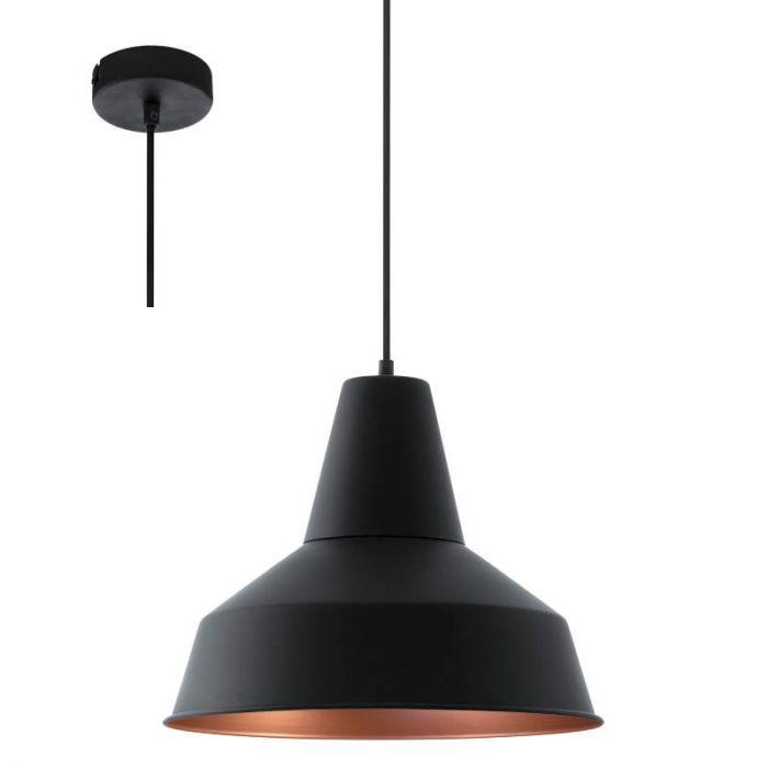 Eglo Somerton 49387 hanglamp zwart