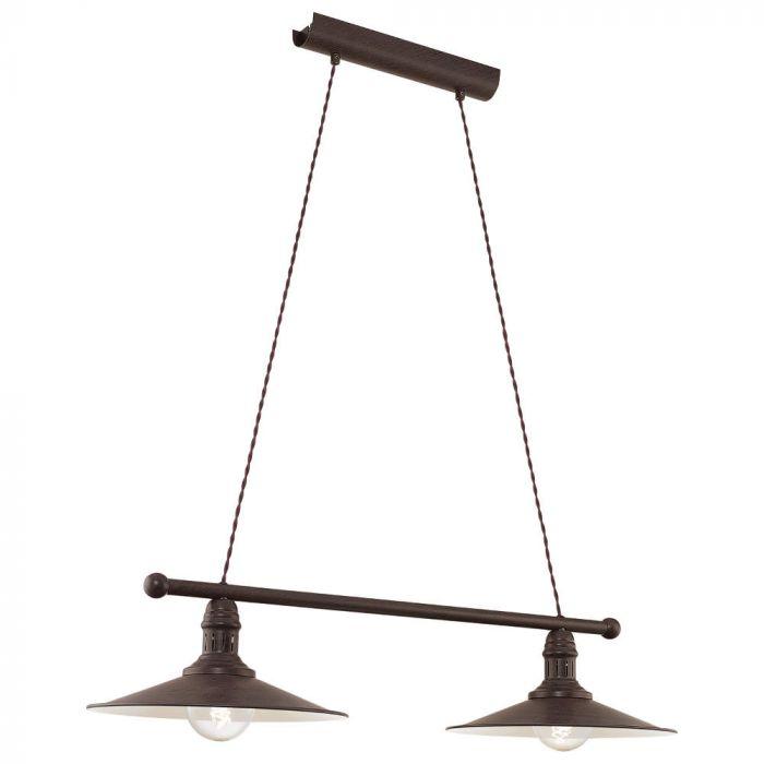 Eglo Stockbury 49457 hanglamp bruin