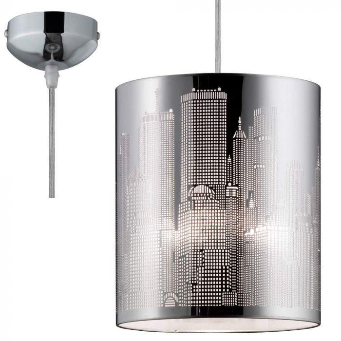 Trio City R30081006 hanglamp chroom