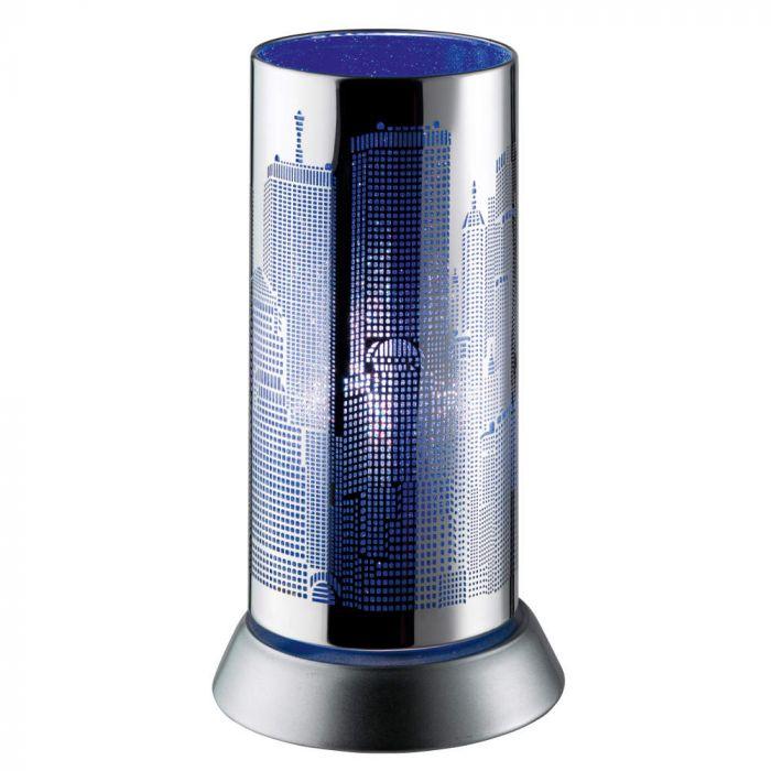 Trio City R50081012 tafellamp blauw