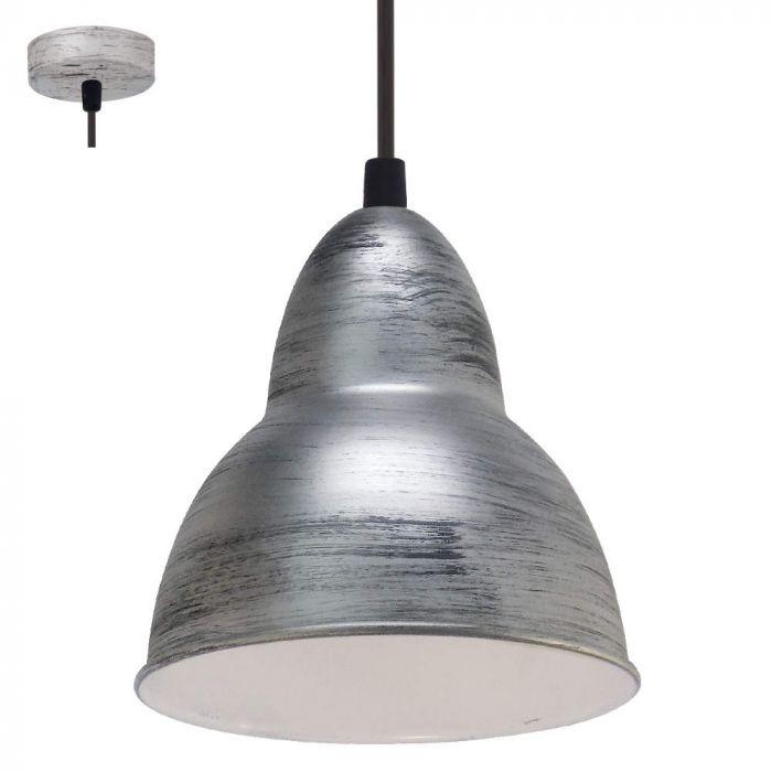 Eglo Truro 49236 hanglamp zilver