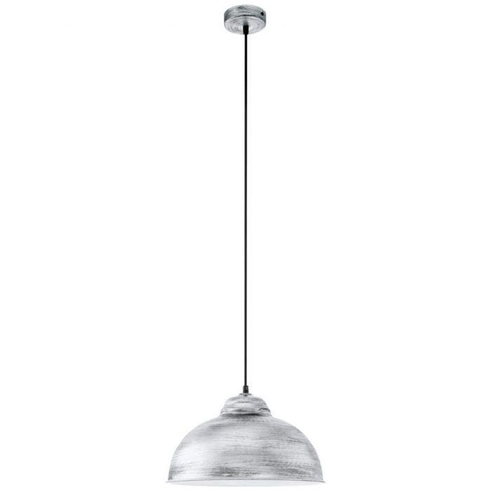 Eglo Truro 49389 hanglamp zilver