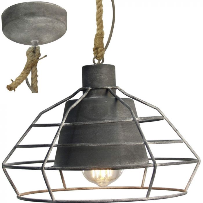 Brilliant Walter 93287/70 hanglamp beton