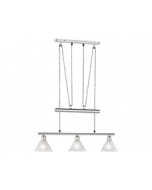 Trio pendel armatuur met 3 lampenkappen serie 3751 wit