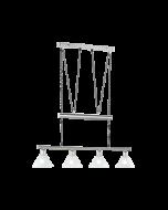Trio pendel armatuur met 4 lampenkappen serie 3751 wit