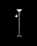 Trio vloerlamp met leeslamp serie 6102 roestkleur