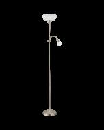 Eglo Up 2 vloerlamp Basic 82842 nikkel wit