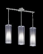 Eglo Pinto Nero hanglamp Trend 90305 zwart transparant
