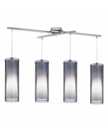 Eglo Pinto Nero hanglamp Trend 90306 zwart transparant